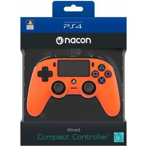 Nacon Compact Controller, Arancione - Classics - PlayStation 4