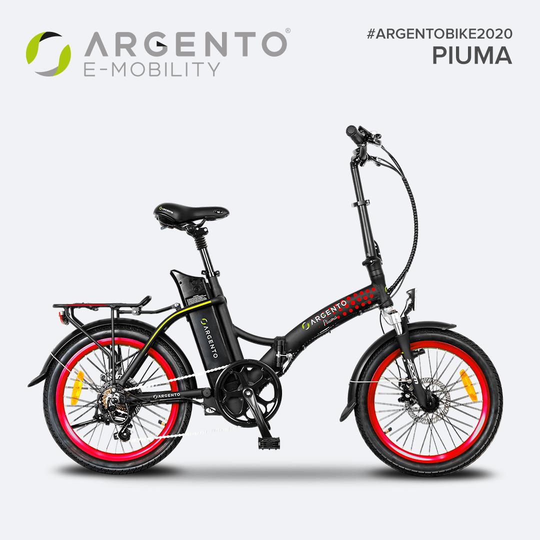 Bici elettrica pieghevole - Argento Piuma E-Bike
