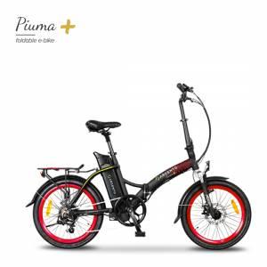Bici elettrica pieghevole - Argento Piuma+ E-Bike